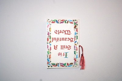 It is still a beautiful world/ church book upside down/ 2009